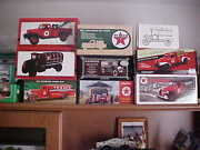 Texaco Trucks Andcar Banks Set From 1984 To 2013