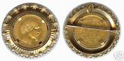 Brooch/pendant 18k - Nap. Iii - Gold Coin With Pearls - Made In France Marks