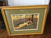 Limited Edition 93/100 Lithograph By D. Curry - Summer Day