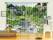 Slow Stone Channel 3d Curtains Blockout Photo Printing Curtains Drape Fabric