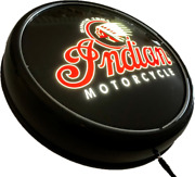 Indian Motorcycle 1901 Led Bar Lighting Wall Sign Light Button Black Man Cave