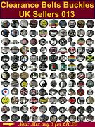 100 Pcs Mixed Lot Jeans 40mm Belt Buckle West Gothic Style New Condition