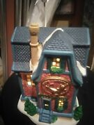 Dickens Collectables Towne Series Porcelain Lighted House Music Shoppe 1997 Box