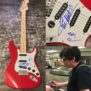 Gfa Eric Martin And Billy Mr. Big Band Signed Electric Guitar Proof Ad1 Coa