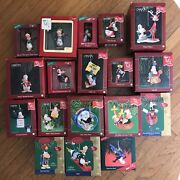 Complete Set Of 18 Opus And Bill Christmas Ornament Berkeley Breathed 1993-2006