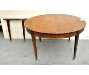 Antique Louis Xvi Extendable Oval Table In Mahogany