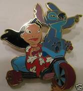Disney Lilo Stitch On Tricycle Jumbo Silver Artist Proof Ap Le 100 Pin
