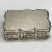 Vintage S J Rose And Son 1971 Solid Silver Snuff Box 4cm In Width 31.2g