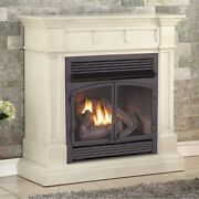 Duluth Forge Dual Fuel Ventless Gas Fireplace -32000 Btu Antique White