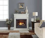 Duluth Forge Dual Fuel Ventless Gas Fireplace - 26,000 Btu, Antique White Finish