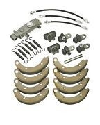 1949 1950 Plymouth Complete Brake Rebuild Kit Shoes Cylinders Hoses Springs