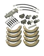 1951 1952 Plymouth Complete Brake Rebuild Kit Shoes, Cylinders, Hoses, Springs