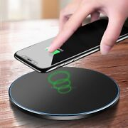 Fast Qi Wireless Charger Charging Mat Pad For Samsung S20 S8 Plus Iphone 12 11 X