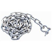 Boat Marine Anchor Chain Stainless Steel 1/4 X 4and039 W/ Shackles 71510 Fastship