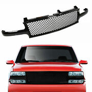 Black Mesh Front Hood Grill Grille For 99-02 Silverado/00-06 Tahoe Suburban