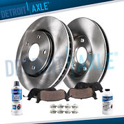Front Brake Rotors And Ceramic Pads - 2010 2011 2012 Range Rover Non Supercharged