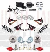1964-72 A Body Front Disc Brake Kit 2 Drop Red Wilwood And A- Arms Coil Over