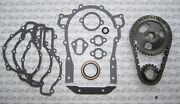 1953 1954 1955 1956 Buick Timing Chain Gears And Gasket Set. Nailhead 264 322