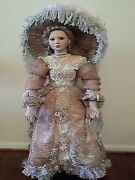 Nrfb Lady Julia Designer Guild Collection 36' Porcelain Doll By Thelma Resch