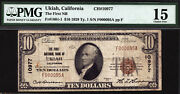 10 T1 The First National Bank Of Ukiah California Ch 10977 Pmg 15 Tough Note