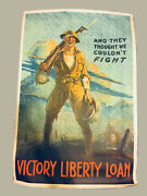 Authentic Wwi 1919 Victory Loan Poster Andldquothey Thought We Couldnand039t Fightandrdquo