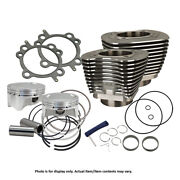 Sands Cycle - 910-0481 - Wrinkle Black 98 Bolt-in Big Bore Kit 1999-06 Big Twin