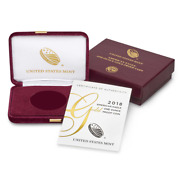 2018-w 50 Proof American Gold Eagle Box Ogp And Coa No Coins