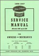 Ford Tractor Ferguson System Service Manual Model 9n And 2n 1939-47 1115-1508