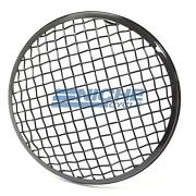 Gloss Black 7 Steel Motorcycle Headlight Mesh Grill Cover Guard