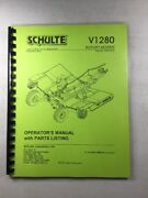 Schulte V1280 Rotary Mower Operators Manual And Parts List