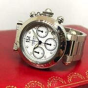 Pasha C Chronograph Automatic Date Lady Size 36mm White Color Dial