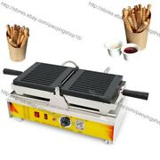 Commercial Nonstick Electric Waffle Fries Stick Maker Machine Baker Iron
