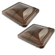 2 Pack 14 X 14 Replacement Roof Vent Cover Camper Rv Trailer Smked Ventline