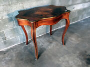 Antique And Elegant Louis Xv Coffee Table In Rosewood - Restored In Progress