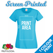 Custom Screen Printed Ladies Tshirt 1 Colour Front Print Band Charity Wholesale