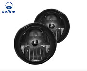 Recon - 7 Round Black/smoke Projector Led Headlights For 07-17 Jeep Wrangler