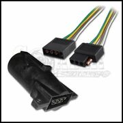 2ft Trailer Light Wiring Harness 4-pin Flat Plug Wire Connector 24 With Adapter