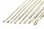 Gold Authentic 10k Solid Gold Menand039s Women Cuban Link Chain Necklace Sz 16-30