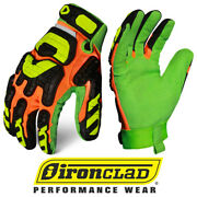 Ironclad Lpi-cc5 Low Profile Impact Closed Cut 5 Oil And Gas Safety Gloves 12 Case