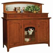 Amish Arts And Crafts Craftsman Sideboard Buffet Solid Wood Garrison 60