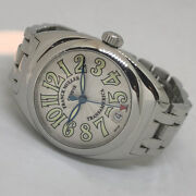 Franck Muller Transamerica 2000 Menand039s Watch / Unisex Size 42x31mm Silver Dial