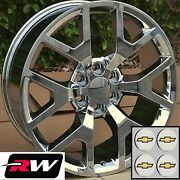 24 Inch Chevy Tahoe Factory Style Honeycomb Wheels Chrome Rims 6x139.7 +31