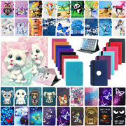 For Barnes And Noble Nook Hd+ 9 / Hd 7 Tablet Universal Leather Case Cover+pen