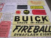 1947 Buick Engine And Interior Decal/tag Kit | Set Of 21