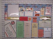 1953 Buick Roadmaster And Skylark Engine And Interior Decal/tag Kit   Set Of 23