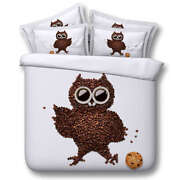 Owl Red Good Rice 3d Printing Duvet Quilt Doona Covers Pillow Case Bedding Sets