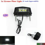 E-mark Custom Motorcycle 3 Led Licence/number Plate Light Lamp Universal Fits