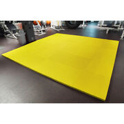 Meister 1.5 Puzzle Floor Mats Extra Thick Home Gym Play Foam Wrestling Yellow