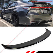 For 18-2021 Toyota Camry Painted Glossy Black Duckbill Style Rear Trunk Spoiler