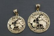 Real 10k Solid Yellow Gold World Is Yours Globe Charm Pendant.